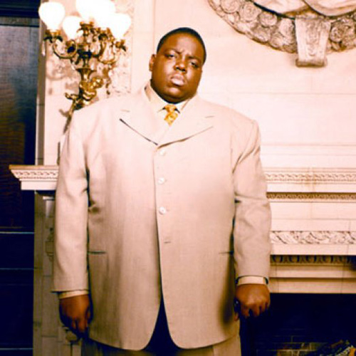Headshot of hip-hop artist The Notorious BIG