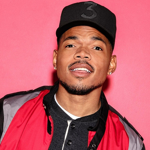 Headshot of hip-hop artist Chance The Rapper