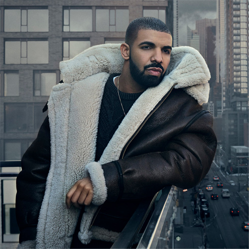 Headshot of hip-hop artist Drake
