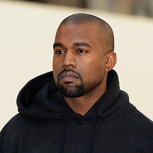 Headshot of hip-hop artist Kanye West