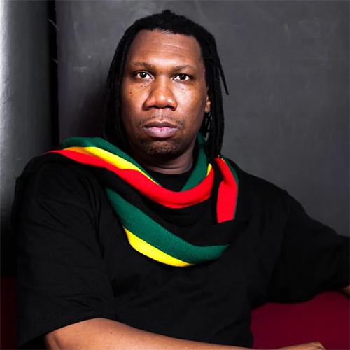 Headshot of hip-hop artist KRS-One