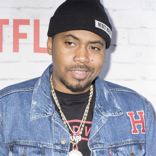 Headshot of hip-hop artist Nas